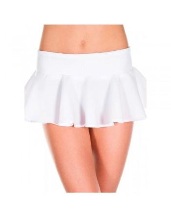 Mini-jupe évasée volante blanche - ML181WHT