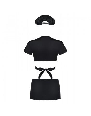 Police Costume 4 pcs - Noir