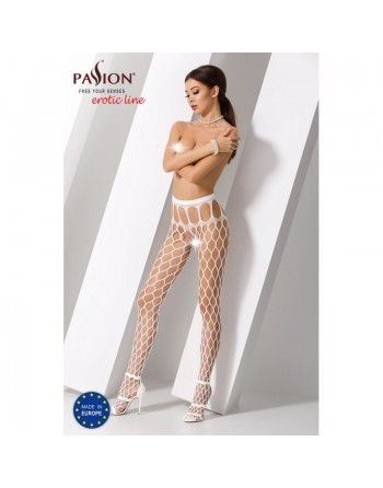 S021W Collants ouverts - Blanc