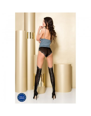 TI102 Collants 50/20 DEN - Noir et Gris