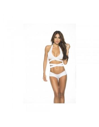 Top Wrap Around blanc - MAL9024WHT