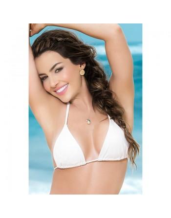 Haut de maillot de bain triangle Style 6845 - Blanc