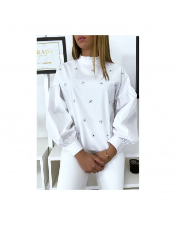 Blouse blanche manches...