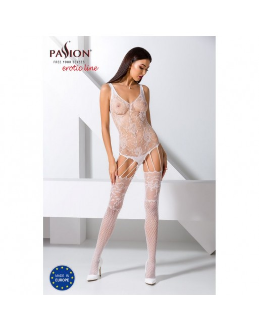 BS074W Bodystocking - Blanc