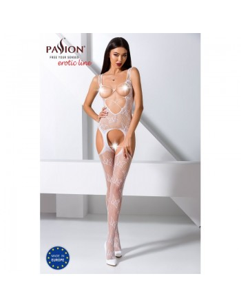 BS075W Bodystocking - Blanc