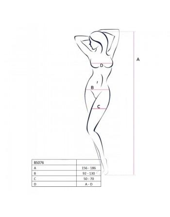 BS076W Bodystocking - Blanc