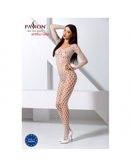 BS077W Bodystocking - Blanc
