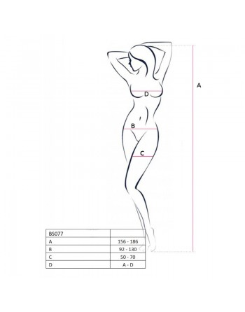 BS077B Bodystocking - Noir