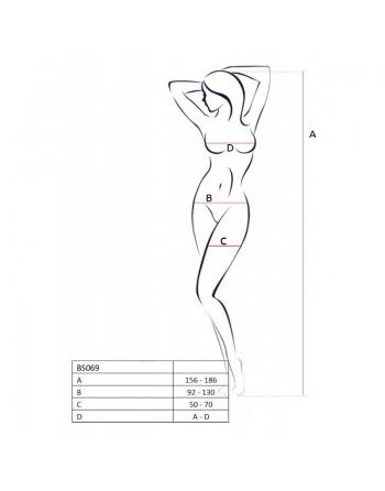 BS069W Bodystocking - Blanc