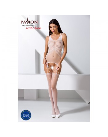 BS070W Bodystocking - Blanc
