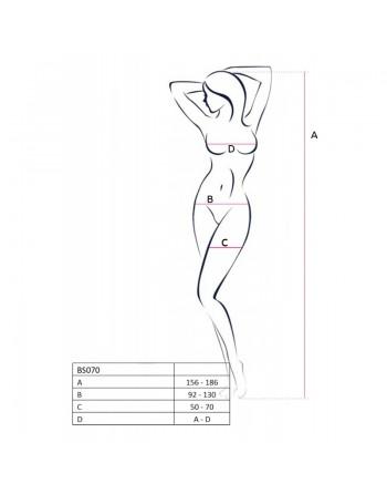 BS070W Bodystocking - Blanc