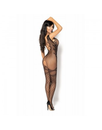 Oriana Crystal Bodystocking - Noir