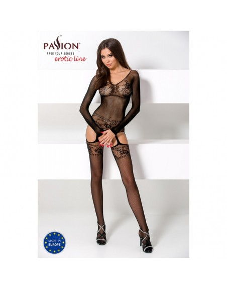 BS055 Bodystocking - Noir