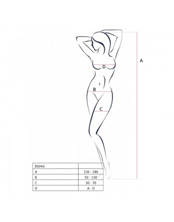 BS044 Bodystocking - Noir