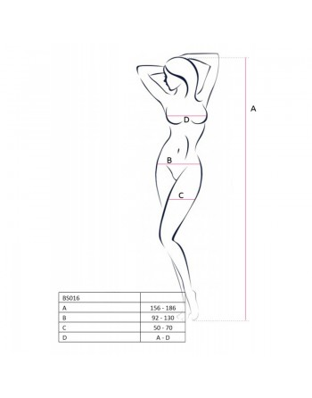 BS016 Bodystocking - Noir