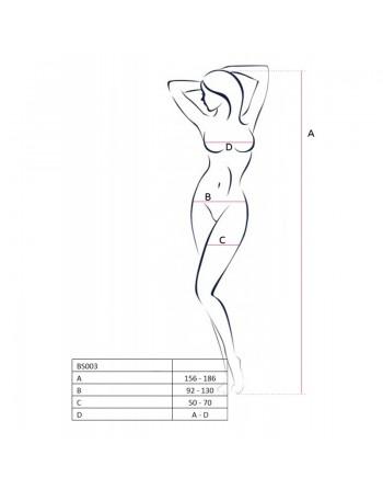 BS003 Bodystocking - Noir