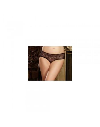 Panty taille basse, ouvert, fronces au dos - DG1300XBLK